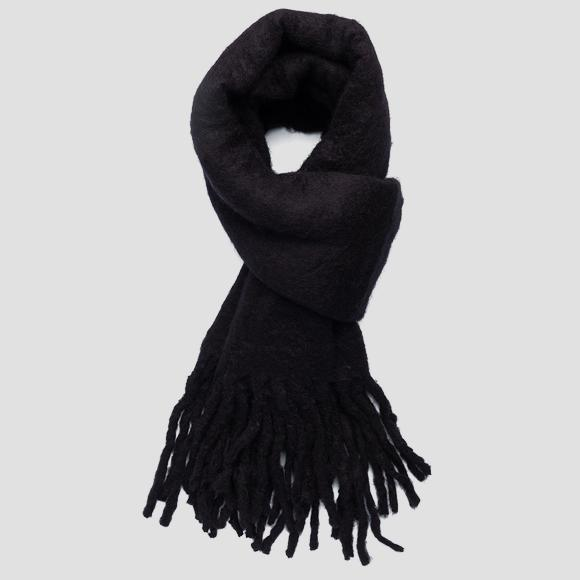Solid-coloured wool scarf - Replay AX9231_000_A0310_098_1