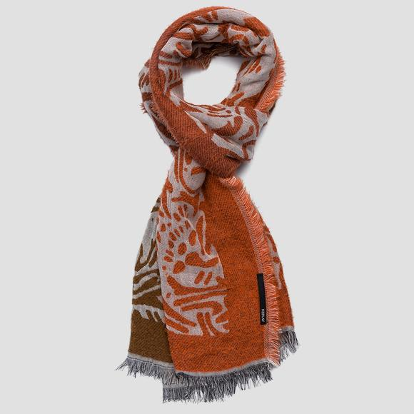 Cotton and wool scarf - Replay AX9233_000_A0429_1388_1
