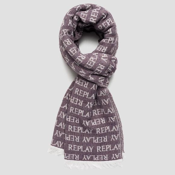 REPLAY scarf in jacquard wool blend - Replay AX9238_000_A0443_1458_1