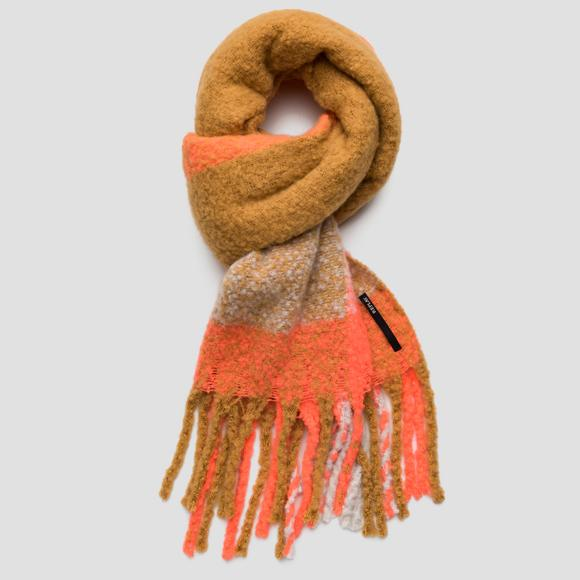 Colorblock scarf with fringes - Replay AX9240_000_A0444_1457_1