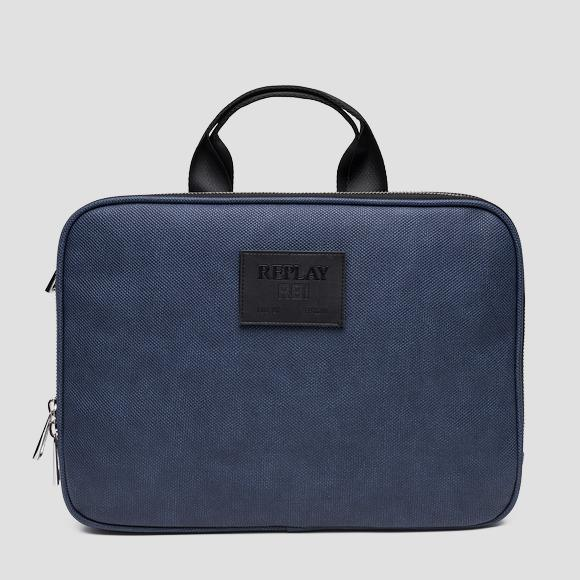 Eco-leather laptop shoulder bag - Replay FM3365_000_A0375_510_1