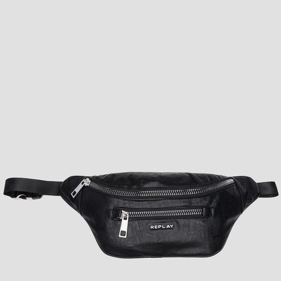Eco-leather waist bag with washed effect - Replay FM3372_000_A0376_098_1