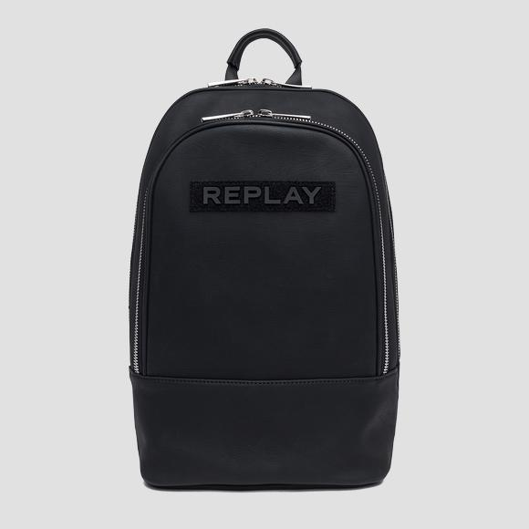 Eco-leather backpack with maxi pocket - Replay FM3411_000_A0375A_098_1
