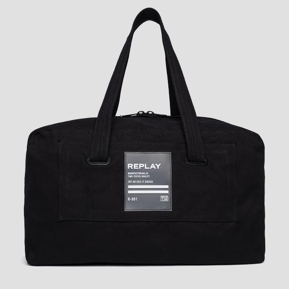 Cotton canvas duffle bag - Replay FM3448_000_A0076_098_1