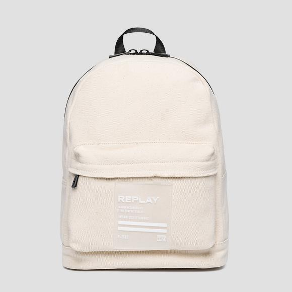 Cotton canvas backpack - Replay FM3449_000_A0076_003_1
