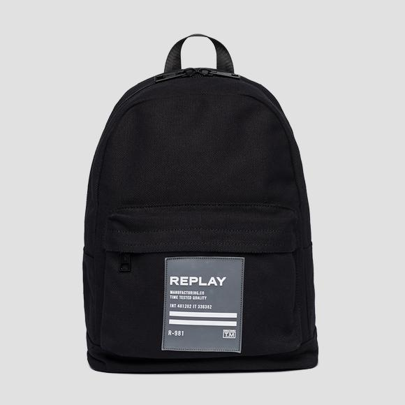 Cotton canvas backpack - Replay FM3449_000_A0076_098_1