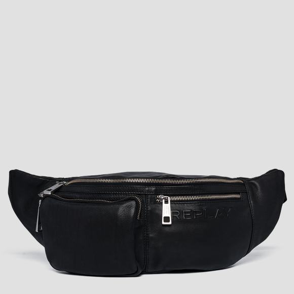 Soft leather waist bag - Replay FM3451_000_A3029_098_1