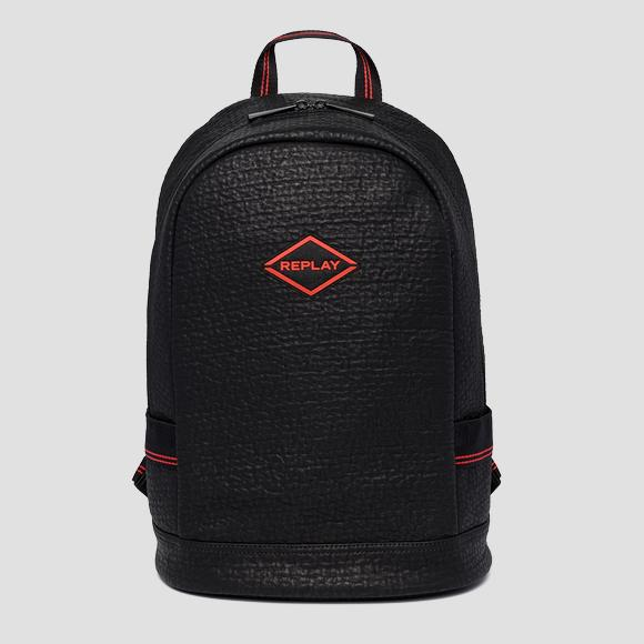 Backpack with embossed pattern - Replay FM3464_000_A0423_098_1