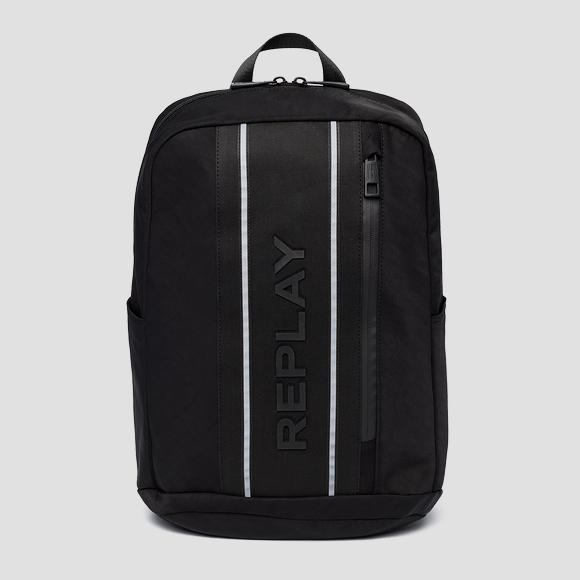Nylon and denim REPLAY backpack - Replay FM3468_000_A0425_098_1
