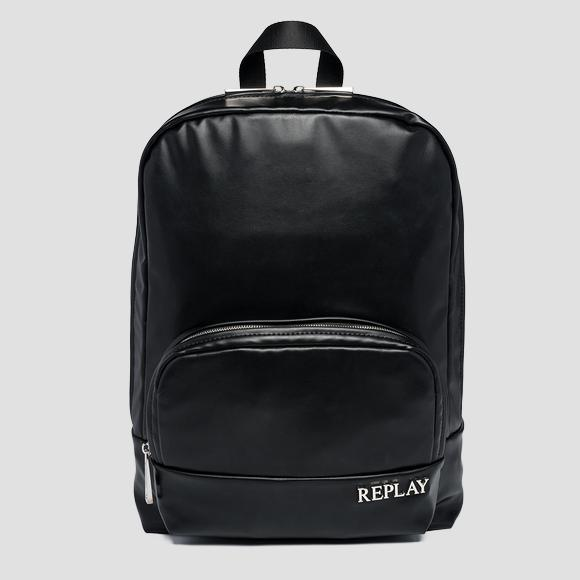 Solid-coloured REPLAY backpack with pocket - Replay FM3523_000_A0439_098_1