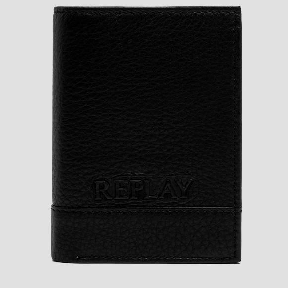 Three-section leather wallet - Replay FM5074_001_A3146_098_1