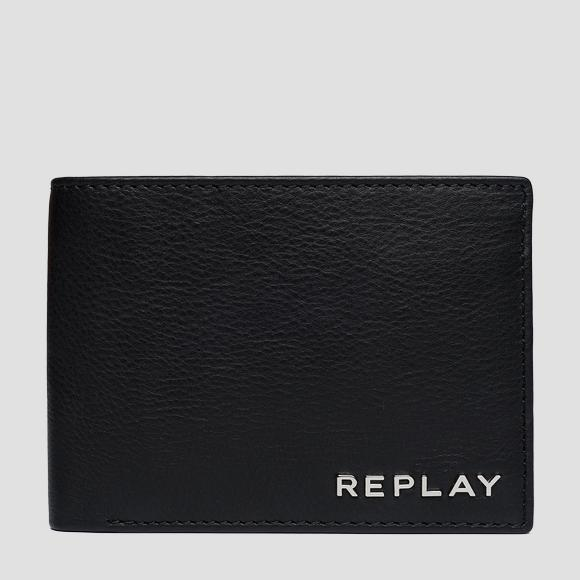 Hammered leather wallet - Replay FM5160_000_A3146_098_1
