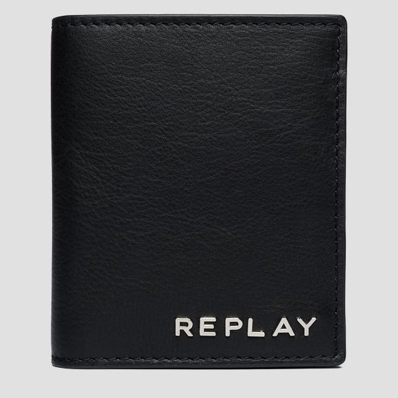 Leather wallet with button - Replay FM5163_000_A3146_098_1