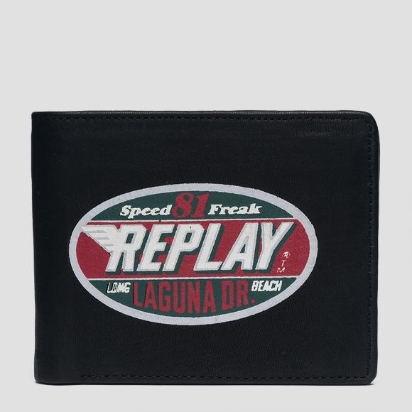 Wallet with vintage print and logo - Replay FM5174_000_A3127_098_1
