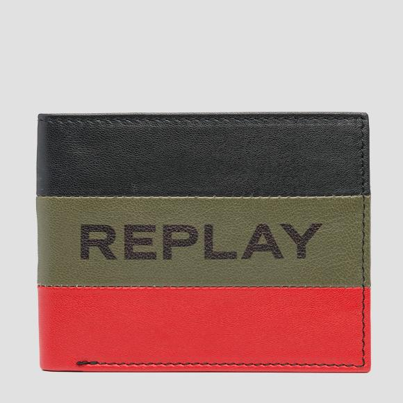 Printed striped REPLAY wallet - Replay FM5198_000_A3063_1378_1