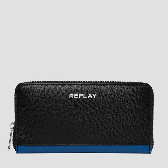Leather wallet with saffiano effect - Replay FM5213_000_A3053_098_1