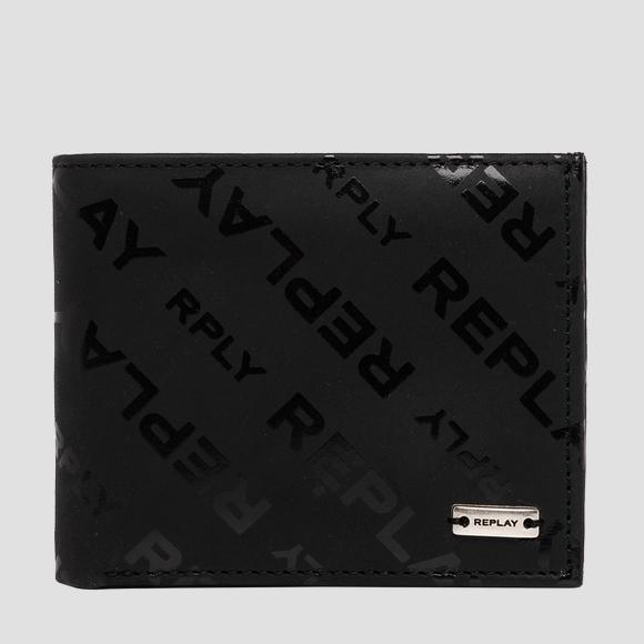 Leather wallet with REPLAY print - Replay FM5217_000_A3178_098_1