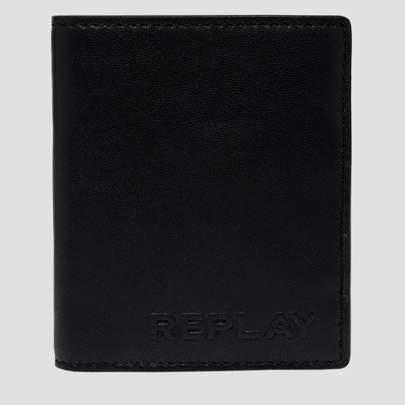 REPLAY leather wallet with button - Replay FM5235_000_A3063_098_1