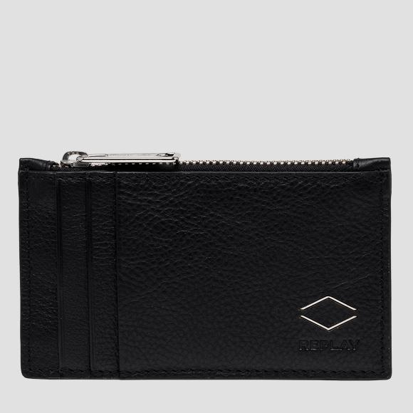 REPLAY cardholder in hammered leather - Replay FM5239_000_A3063B_098_1