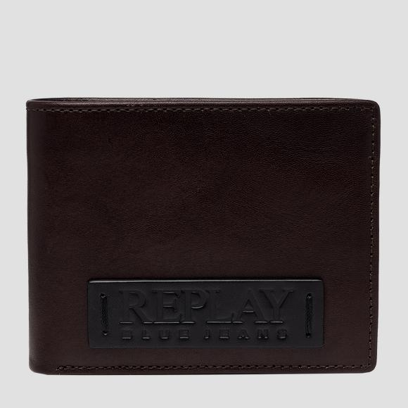 REPLAY BLUE JEANS wallet in solid-coloured hammered leather - Replay FM5251_000_A3191_128_1