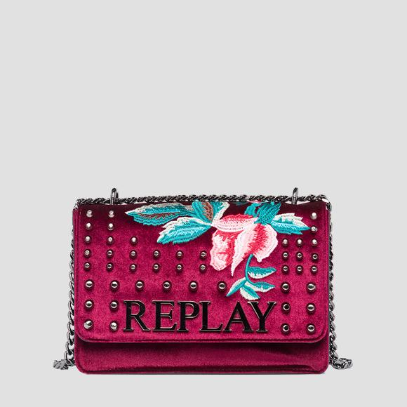 Embroidered crossbody bag - Replay FW3000_008_A0367_253_1