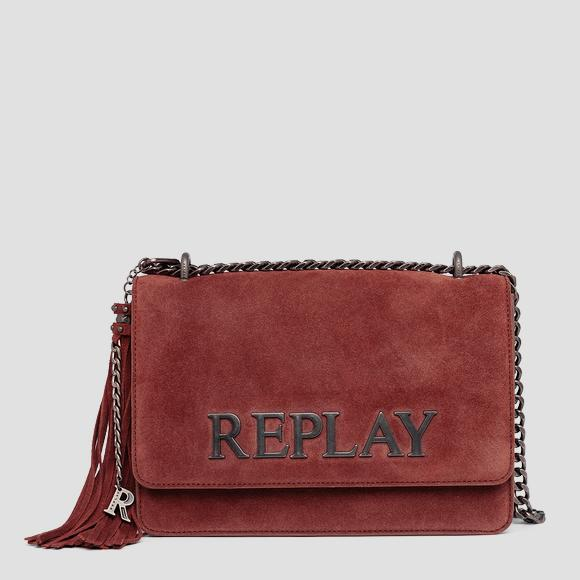 Crossbody bag in suede - Replay FW3000_009_A3154_260_1
