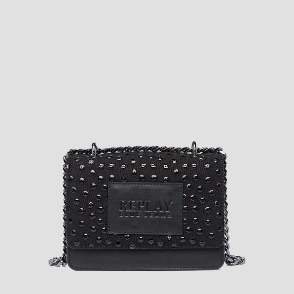 Leather denim crossbody bag - Replay FW3001_012_A3155_098_1
