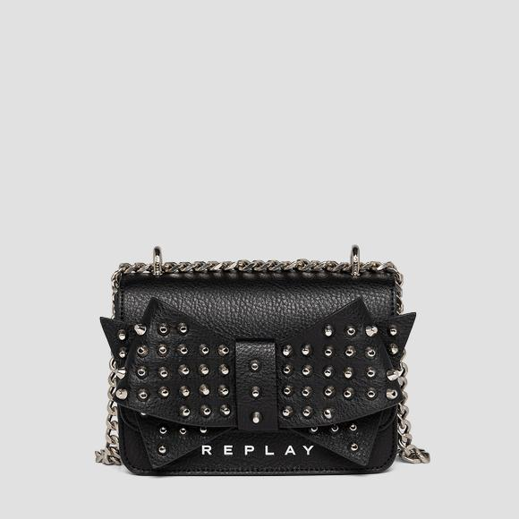 Crossbody bag with bow and studs - Replay FW3001_013_A0132D_098_1