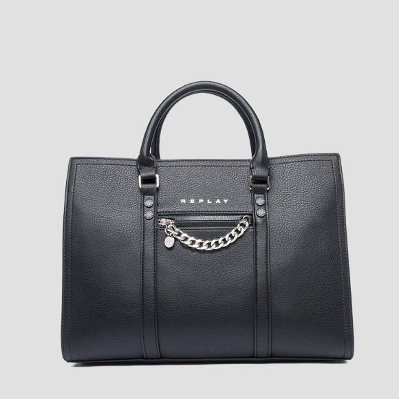 Tote bag with charm REPLAY - Replay FW3016_001_A0132D_098_1