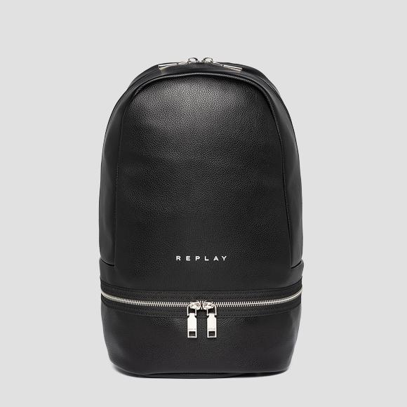 Solid-coloured REPLAY backpack with zipper - Replay FW3090_000_A0363C_298_1