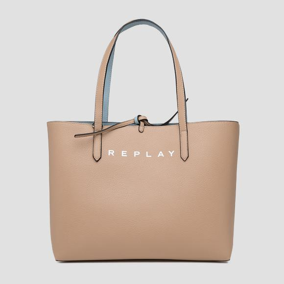 Reversible shopper with inner pouch - Replay FW3113_000_A0426C_1446_1