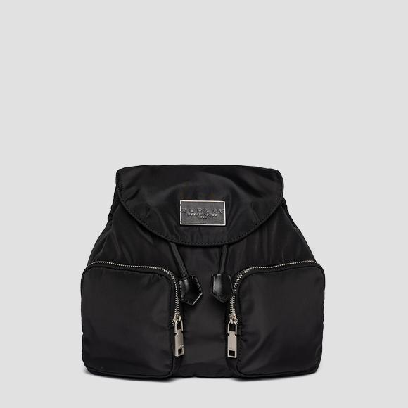 REPLAY nylon backpack with pockets - Replay FW3114_000_A0435_098_1