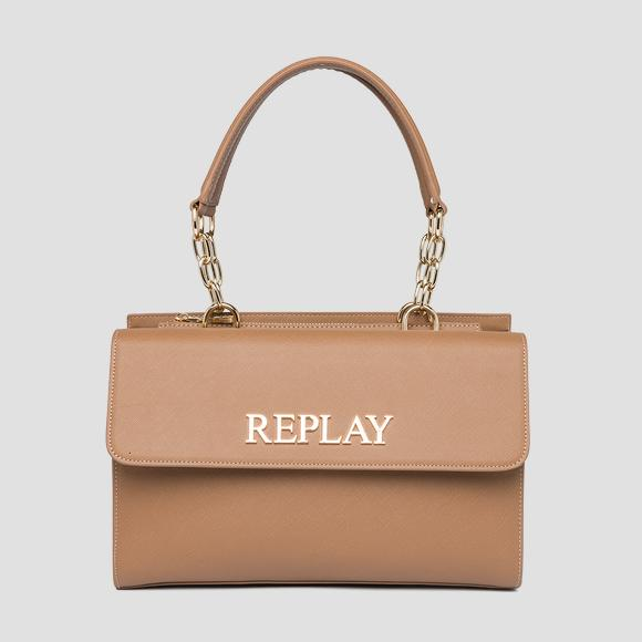 Bag with flap and saffiano effect - Replay FW3137_000_A0283_074_1