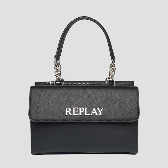 Bag with flap and saffiano effect - Replay FW3137_000_A0283_098_1
