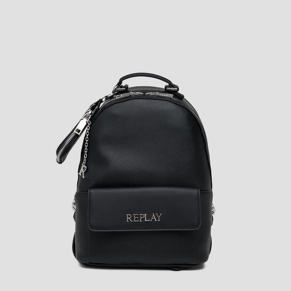 Backpack with saffiano effect and flap - Replay FW3143_000_A0283_098_1