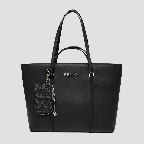 REPLAY shopper bag with saffiano effect - Replay FW3144_000_A0283_098_1