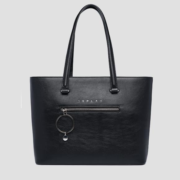 REPLAY shopper with maxi charm - Replay FW3151_000_A0437_098_1