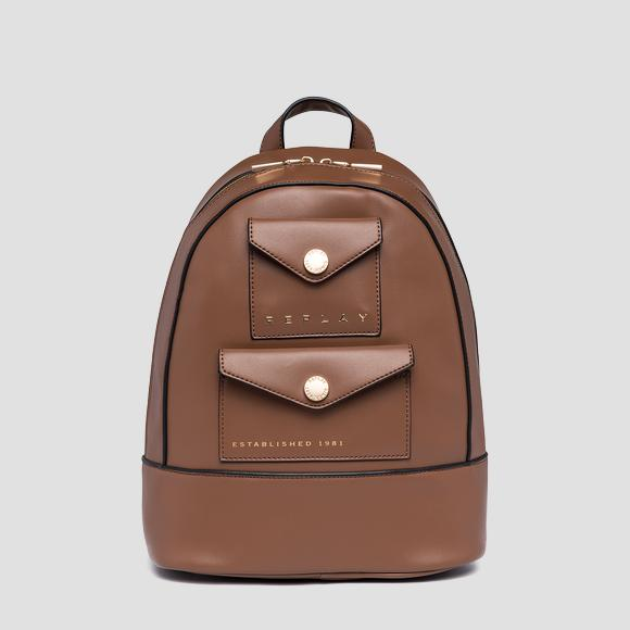 REPLAY ESTABLISHED 1981 backpack with double pocket - Replay FW3153_000_A0157B_059_1