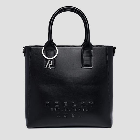 REPLAY ESTABLISHED 1981 shopper with shoulder strap - Replay FW3160_000_A0365B_098_1