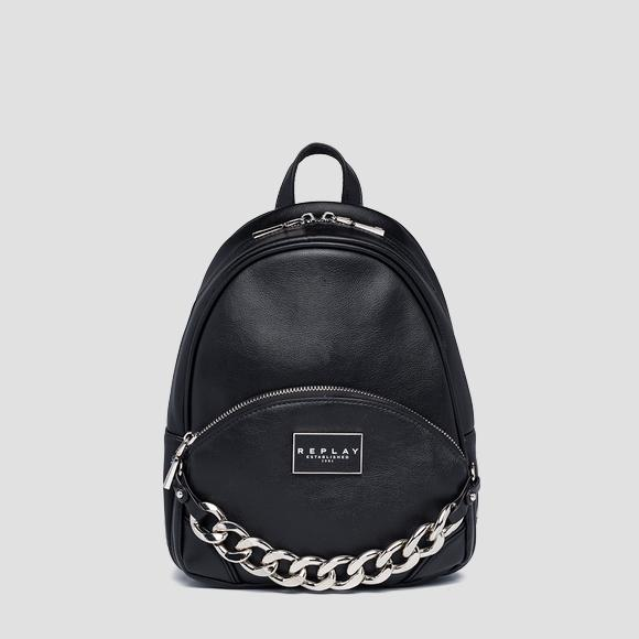 REPLAY ESTABLISHED 1981 backpack with pocket - Replay FW3164_000_A0437_098_1