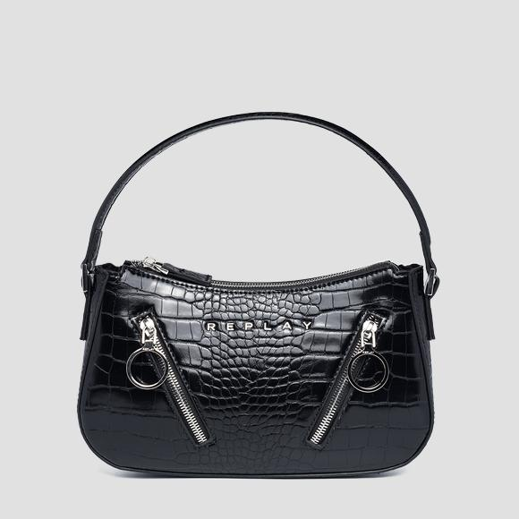 REPLAY shoulder bag with croc print - Replay FW3174_000_A0292F_098_1