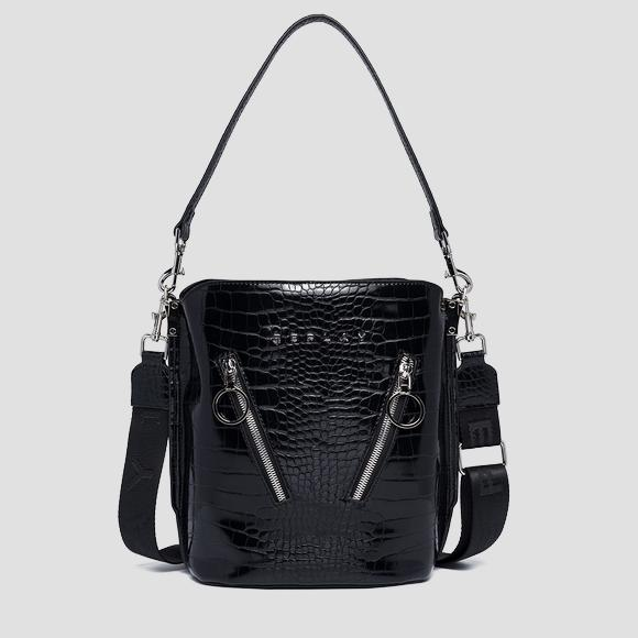 Bucket bag with croc print - Replay FW3176_000_A0292F_098_1