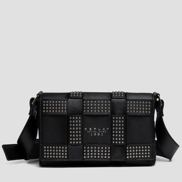 Shoulder bag with weaved pattern and studs - Replay FW3192_000_A0283B_098_1