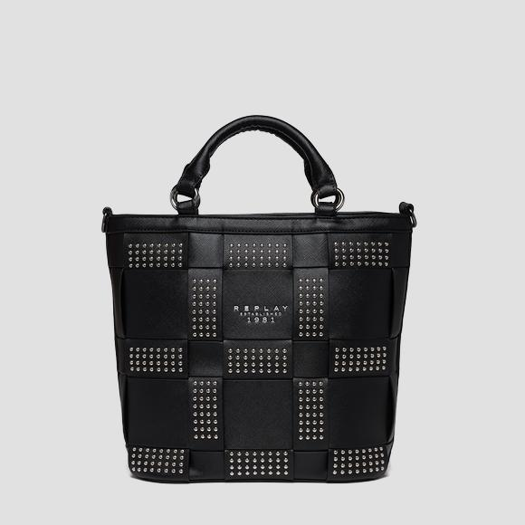 Shopper with weaved pattern and studs - Replay FW3193_000_A0283B_098_1