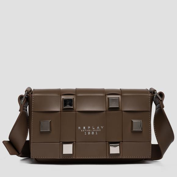 REPLAY ESTABLISHED 1981 shoulder bag with maxi studs - Replay FW3196_000_A0418_109_1