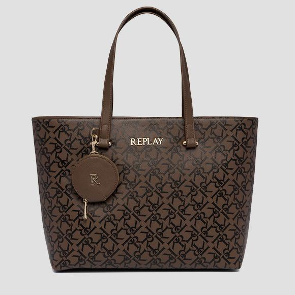 Shopper with all-over REPLAY print - Replay FW3210_001_A0283A_110_1