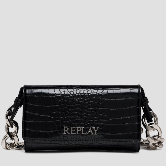 REPLAY purse with croc print - Replay FW3216_001_A0292F_098_1