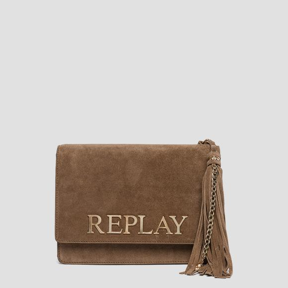 Suede leather shoulder bag - Replay FW3788_000_A3054_087_1