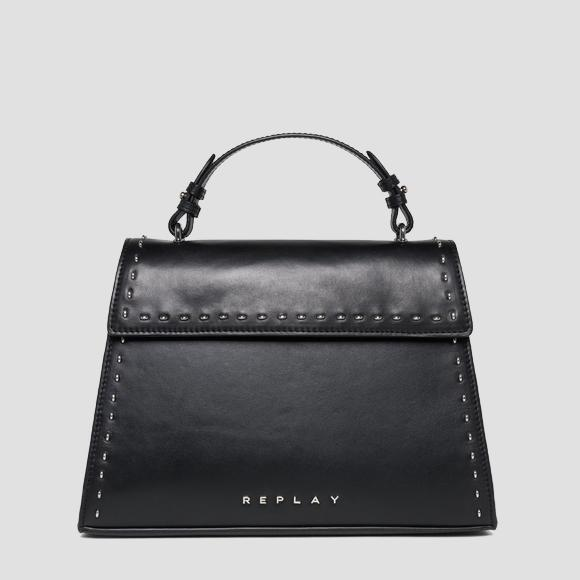 Trapeze-shaped leather bag - Replay FW3832_000_A3127C_098_1