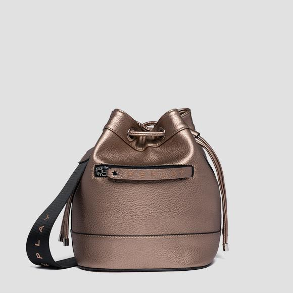 Bucket bag with logoed zipper puller - Replay FW3839_000_A0132D_226_1